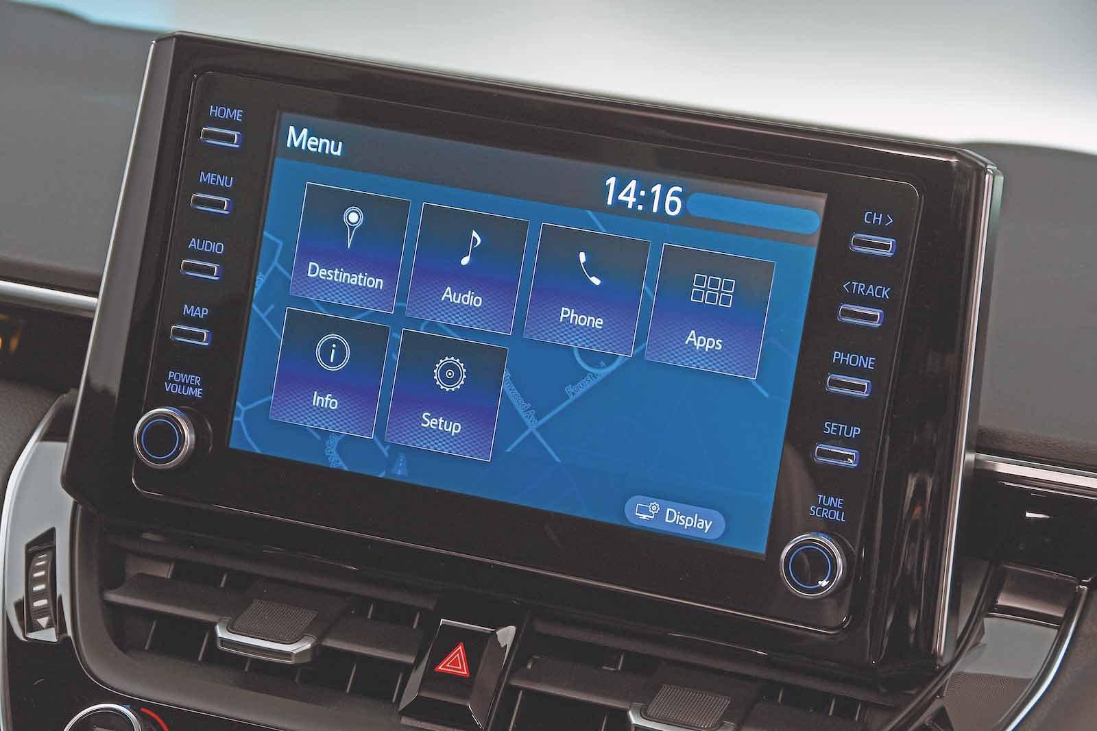 Toyota Corolla 2019 infotainment