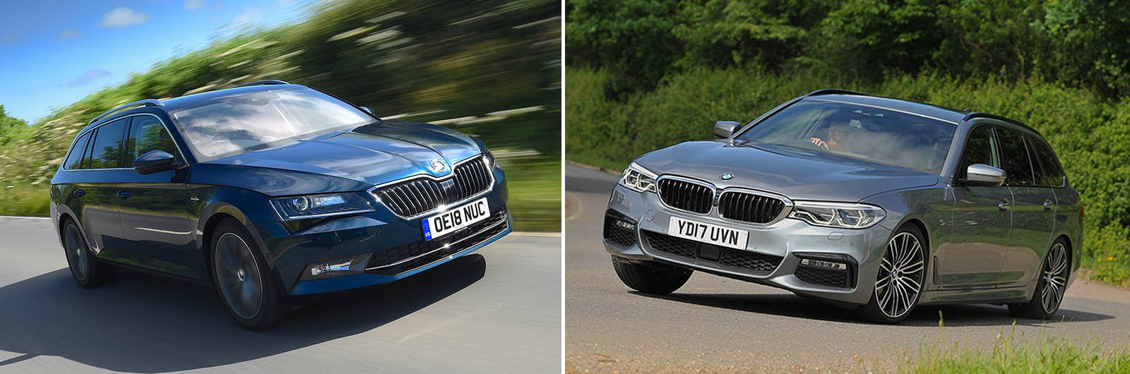 New Skoda Superb Estate vs used BMW 5 Series Touring