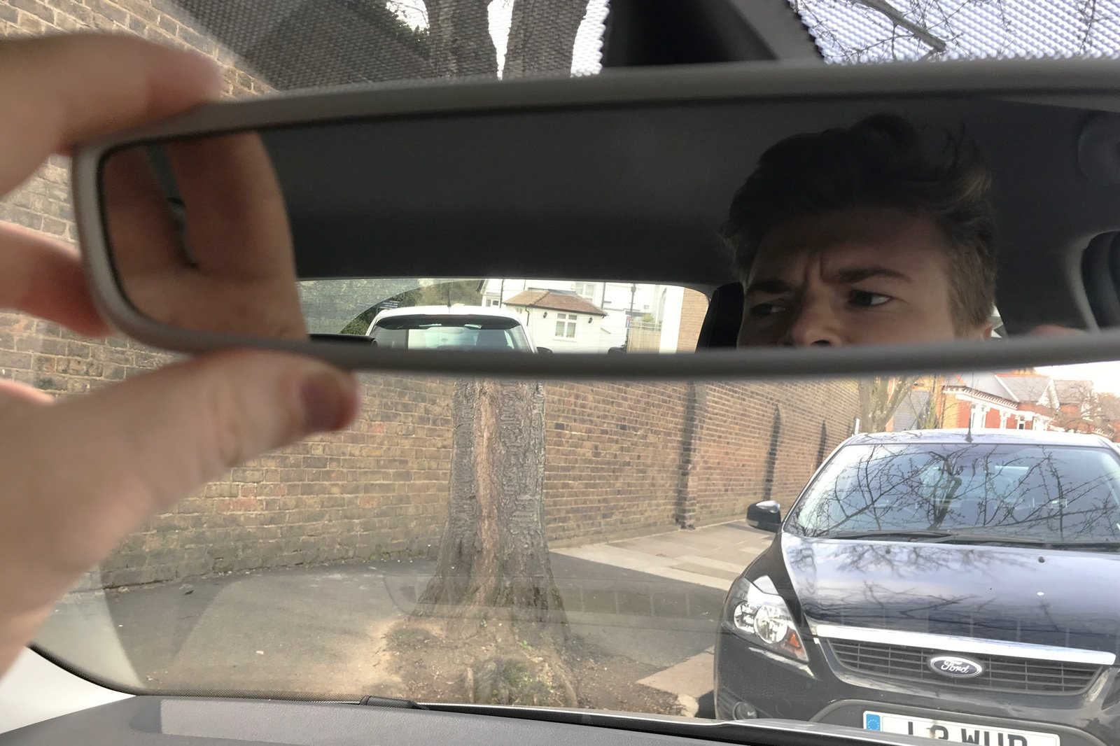 skoda fabia rear-view mirror