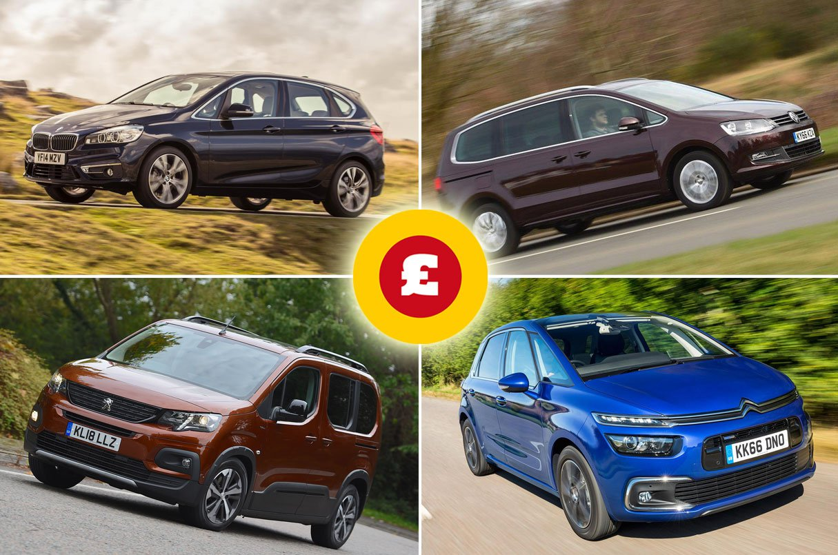 BMW 2 Series Active Tourer, Volkswagen Sharan, Peugeot Rifter, Citroen C4 Spacetourer