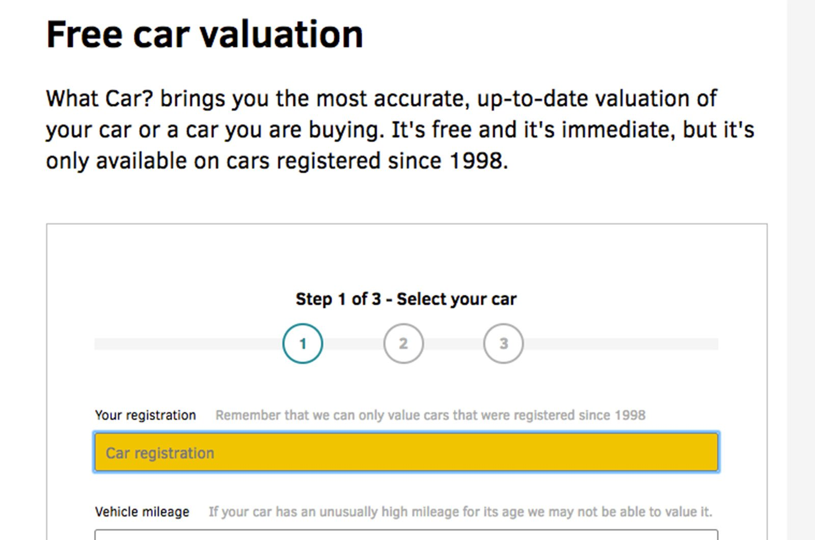 What Car? Valuations