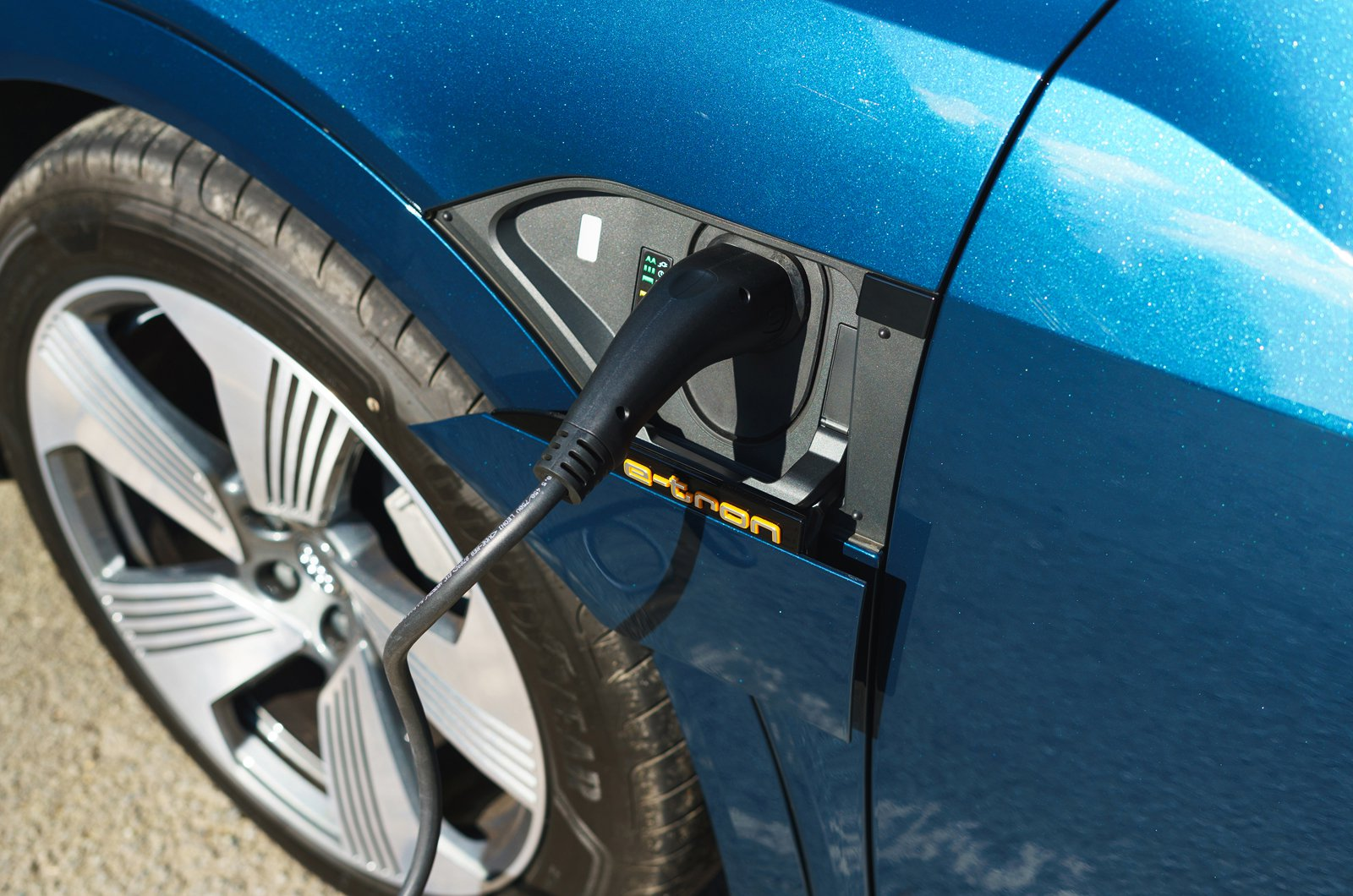 Audi E-tron 2019 UK charging socket