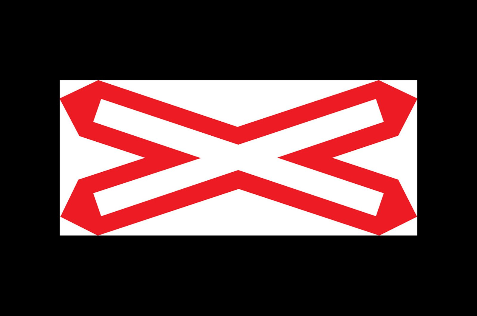 Level crossing without barrier