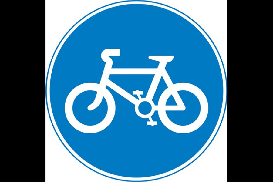 Route to be used by pedal cycles only