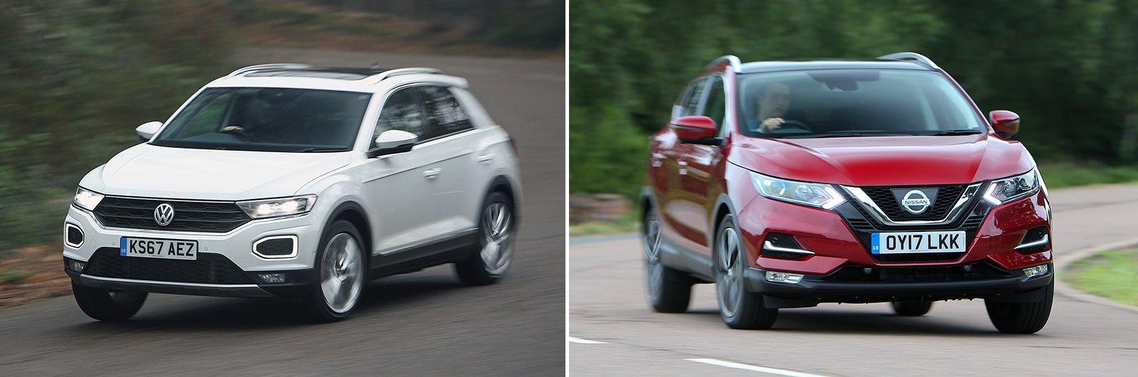 Arona vs Ateca competitors: Volkswagen T-Roc and Nissan Qashqai
