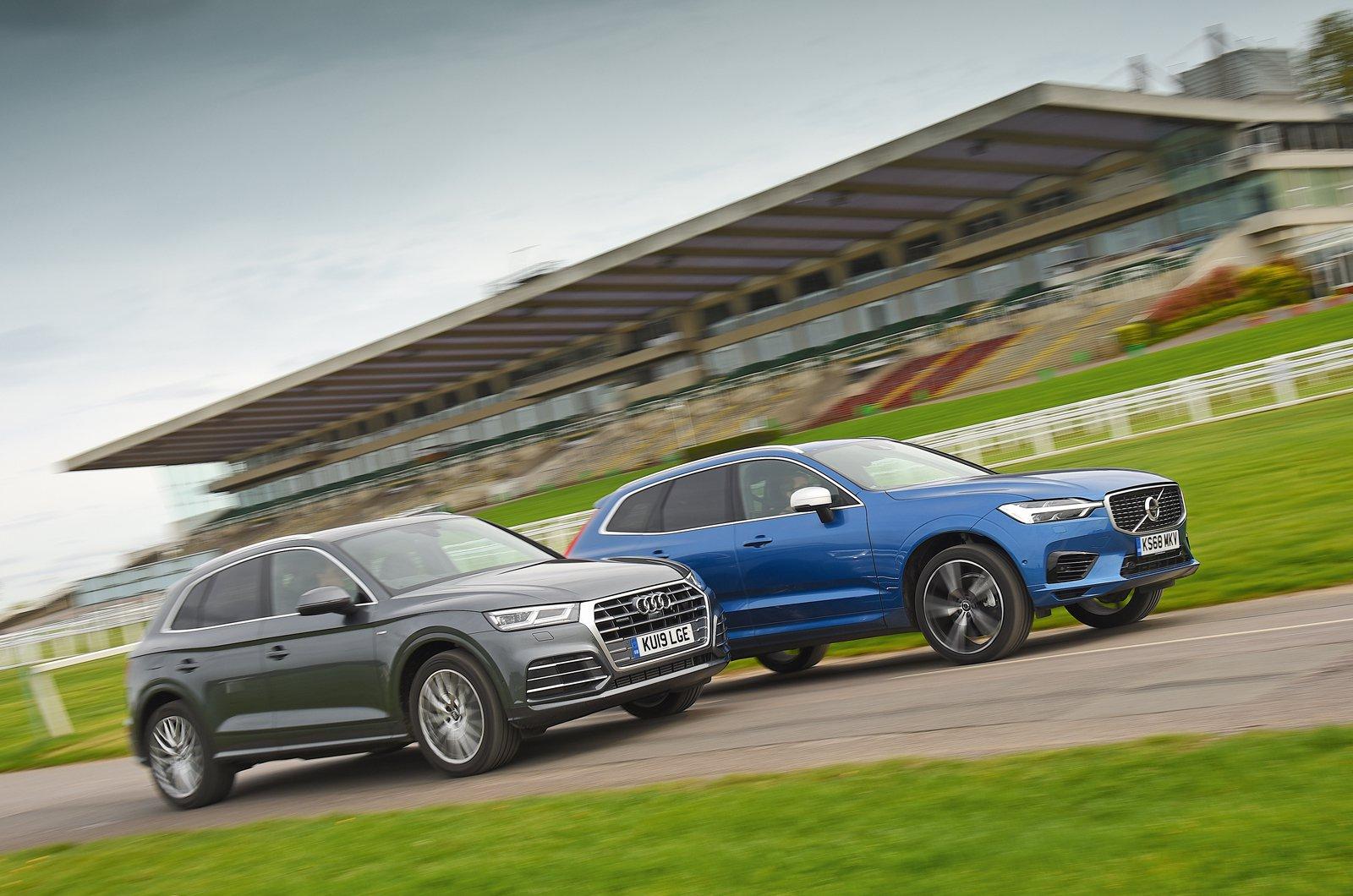 Audi Q5 diesel (19 plate) vs Volvo XC60 hybrid (68 plate)