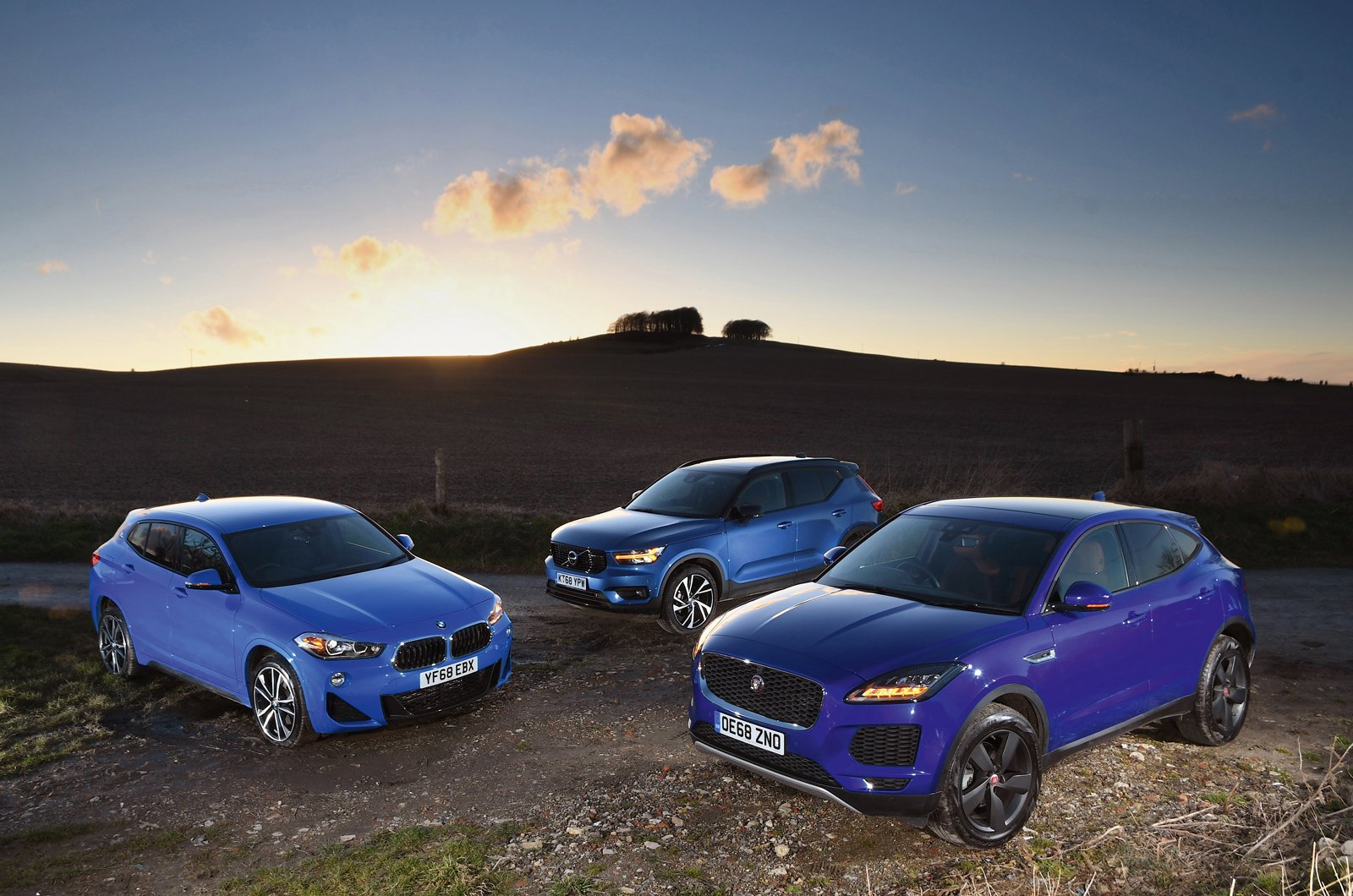 BMW X2, Jaguar E-Pace and Volvo XC40
