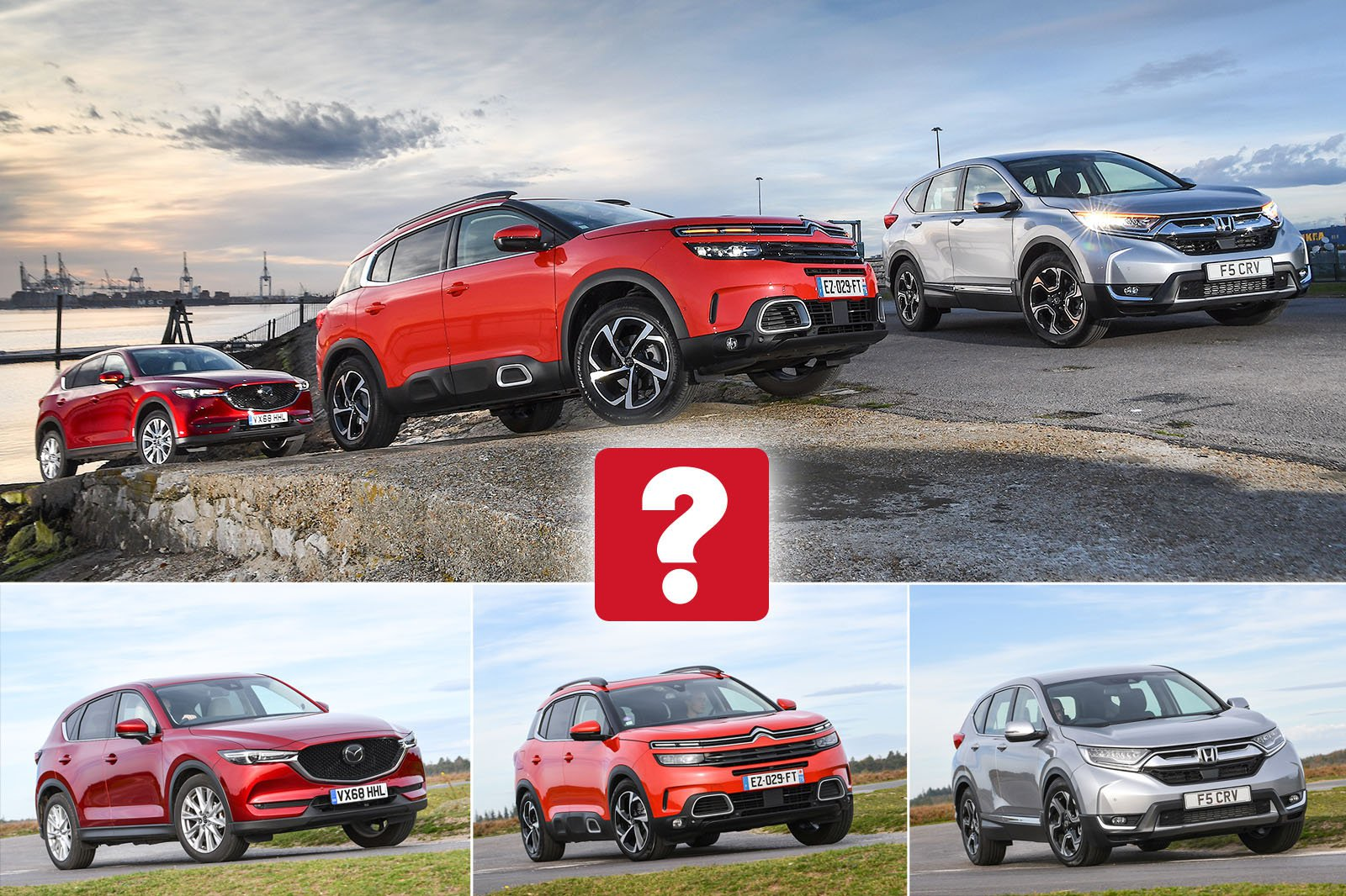 New Citroën C5 Aircross & Honda CR-V vs Mazda CX-5