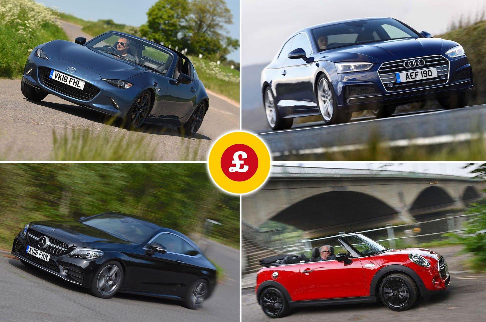 Mazda MX-5 RF, Audi A5, Mercedes C-Class Coupé, Mini Convertible