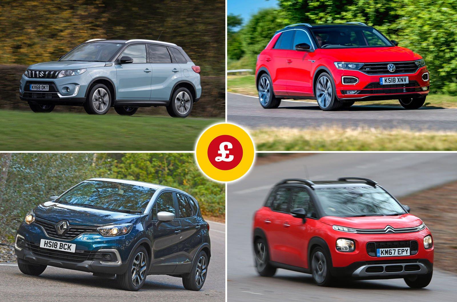 Suzuki Vitara, Volkswagen T-Roc, Renault Captur, Citroën C3 Aircross