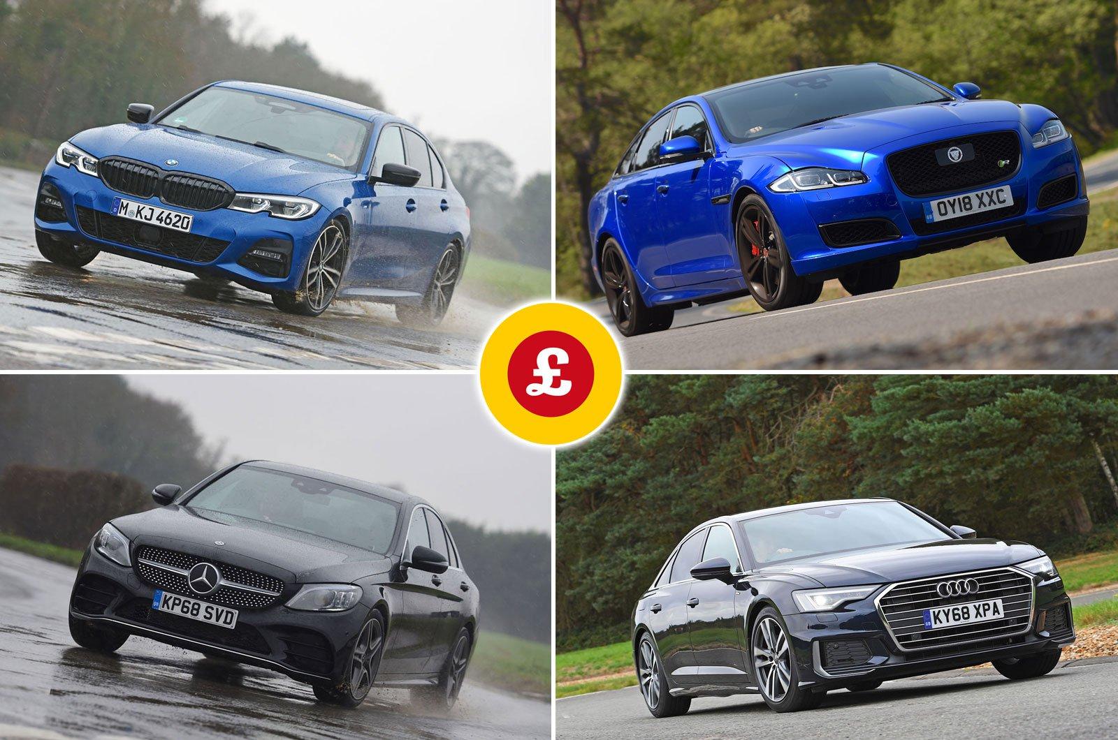BMW 3 Series, Jaguar XJ, Audi A6, Mercedes C-Class
