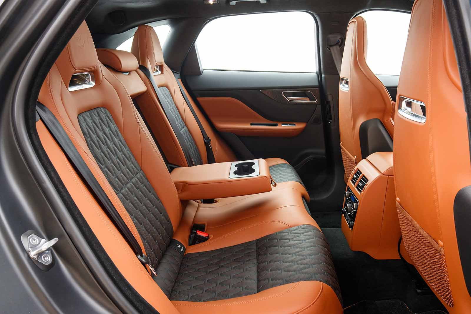 Jaguar F-Pace SVR 2019 launch LHD rear seats