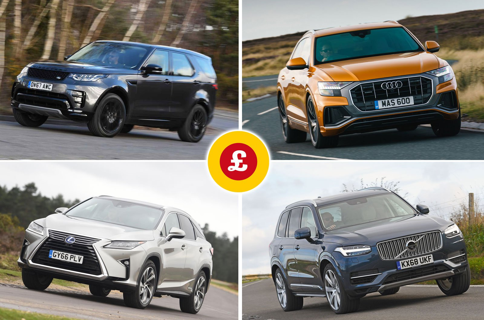Land Rover Discovery, Audi Q8, Lexus RX L, Volvo XC90