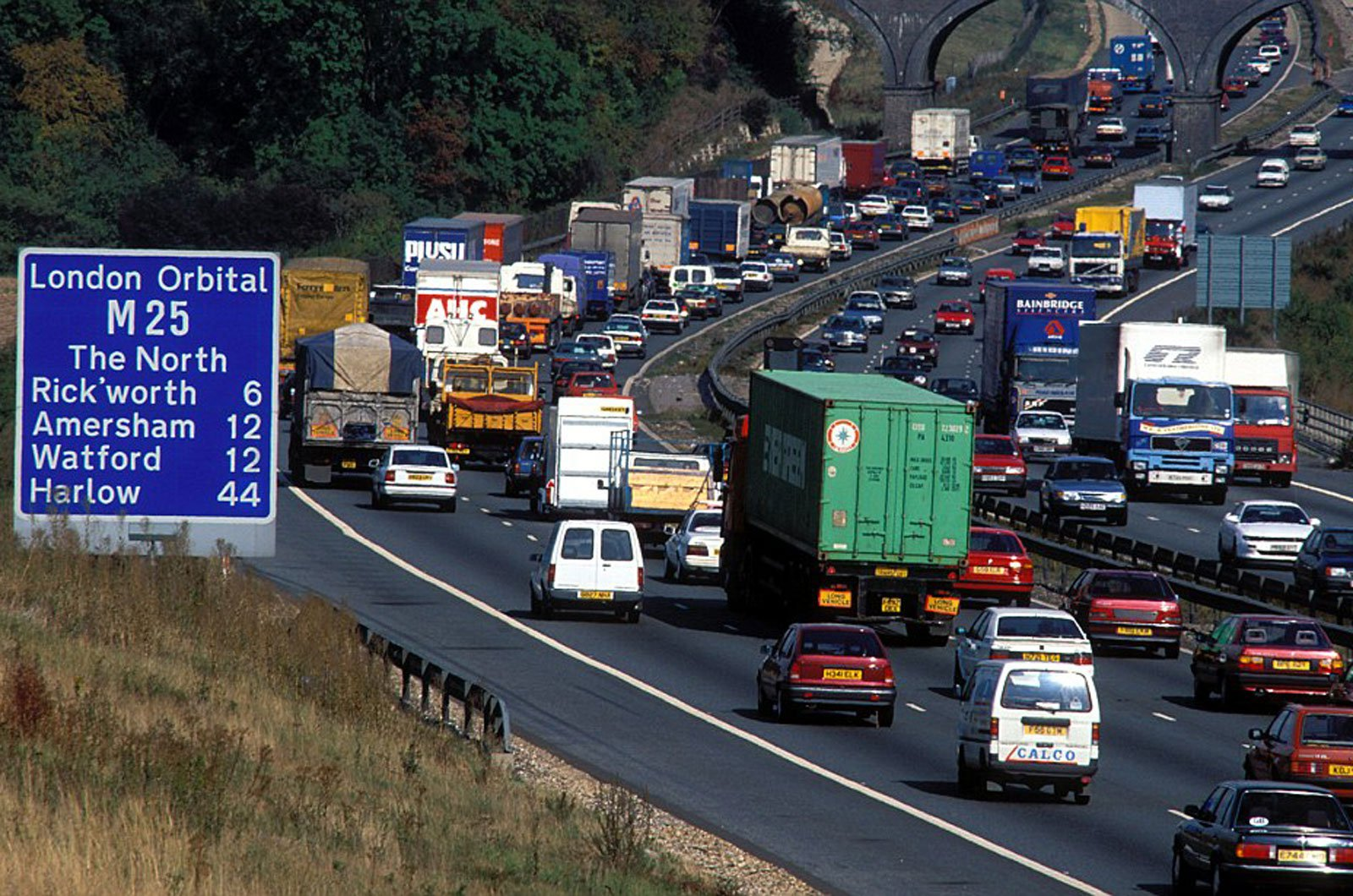 Traffic jam on the M25