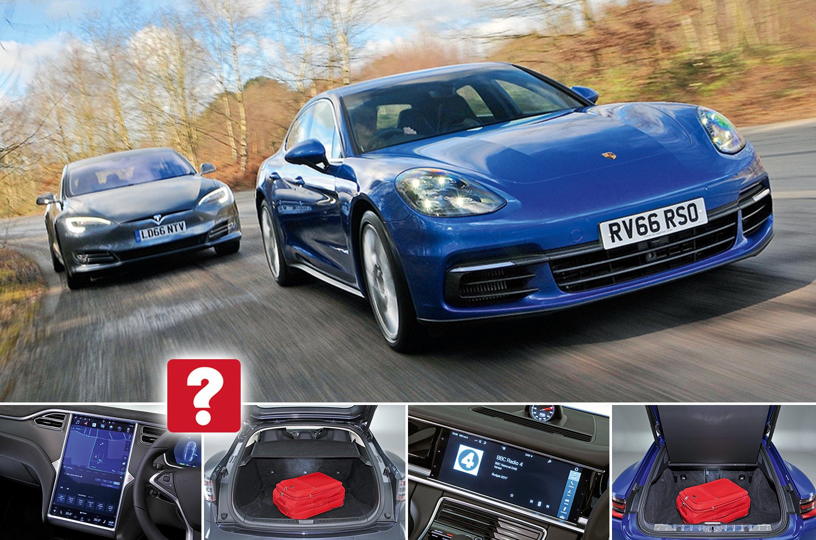 Used test: Porsche Panamera vs Tesla Model S