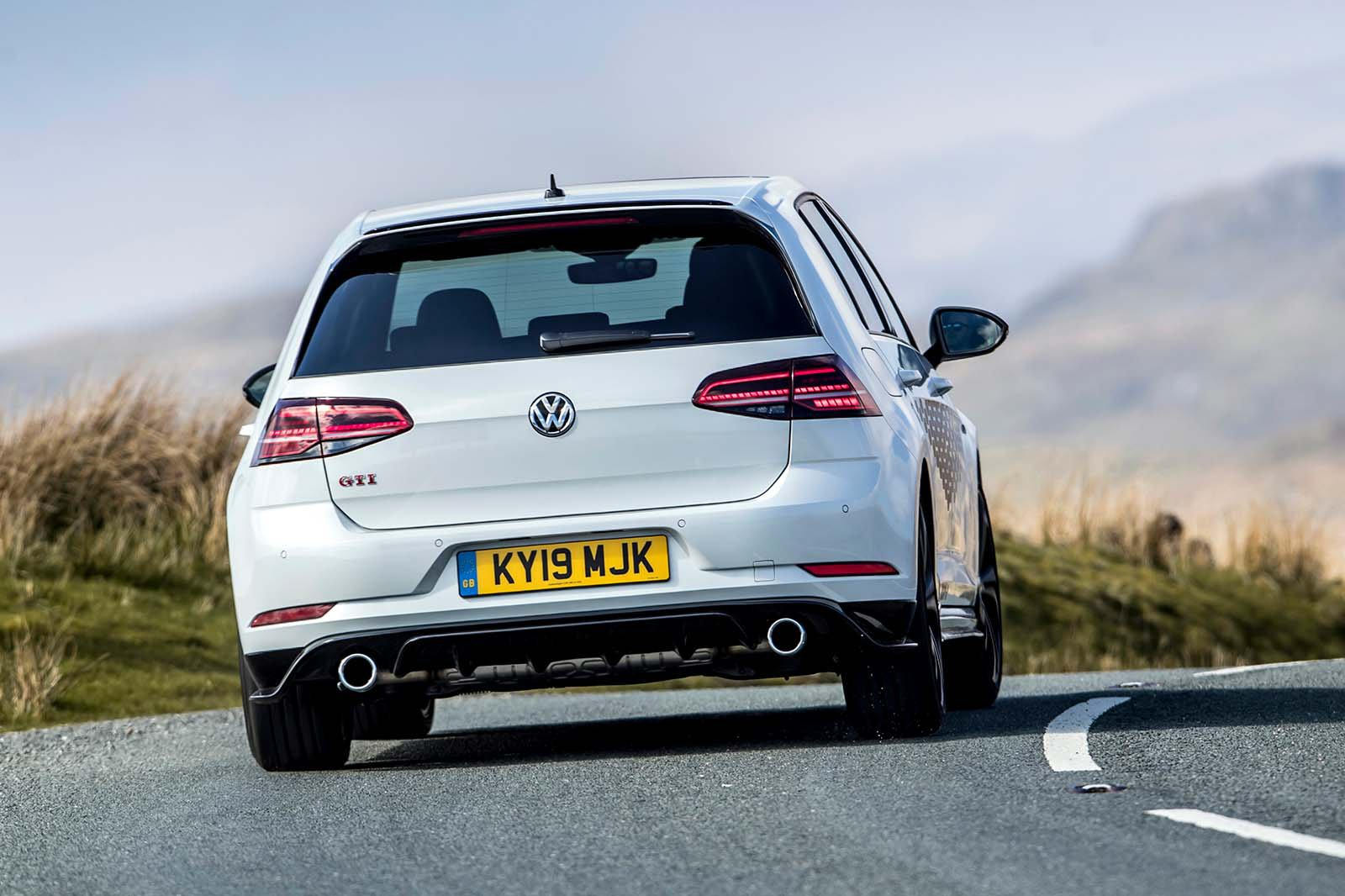 2019 VW Golf GTI TCR rear three-quarter driving