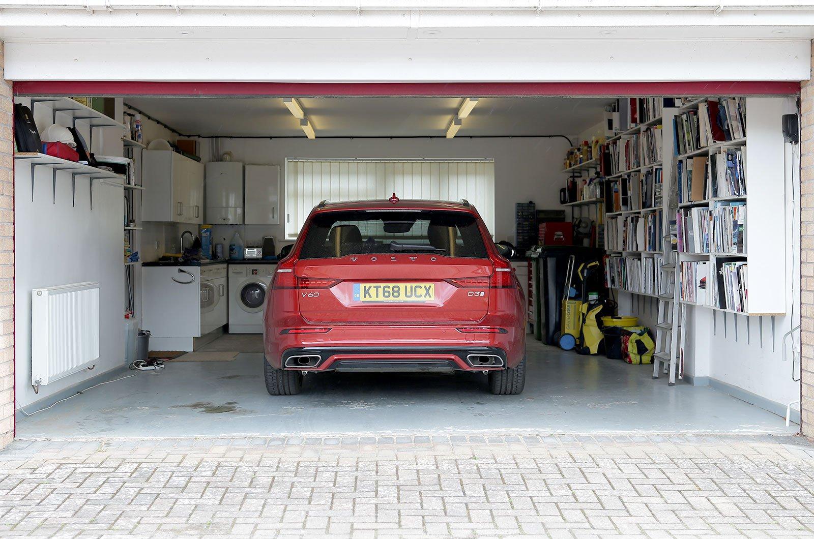 Car in a garage