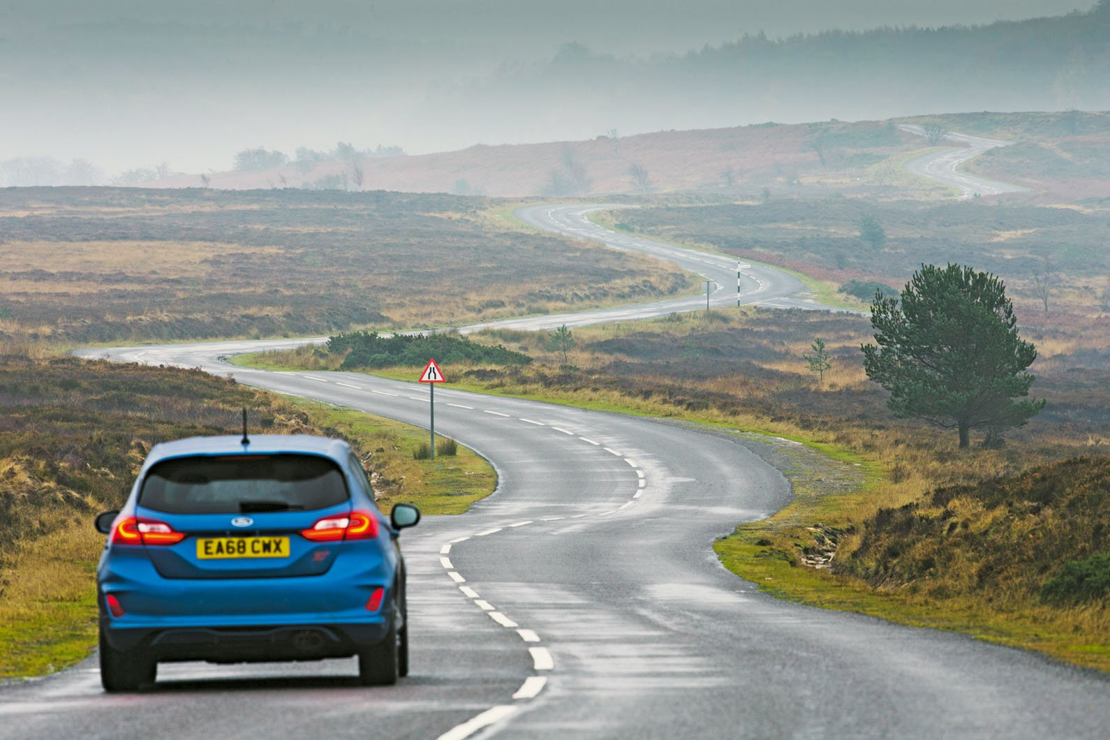 Ford Fiesta ST on winding road