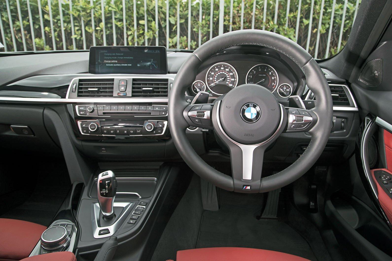 2: BMW 330e - interior