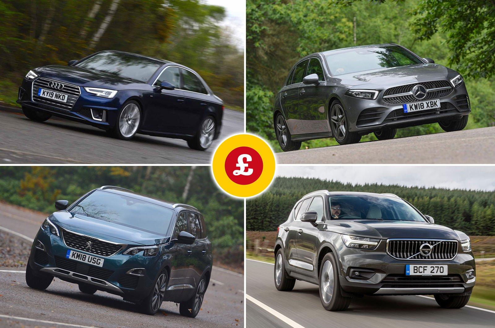 Audi A4, Mercedes A-Class, Peugeot 5008, Volvo XC40