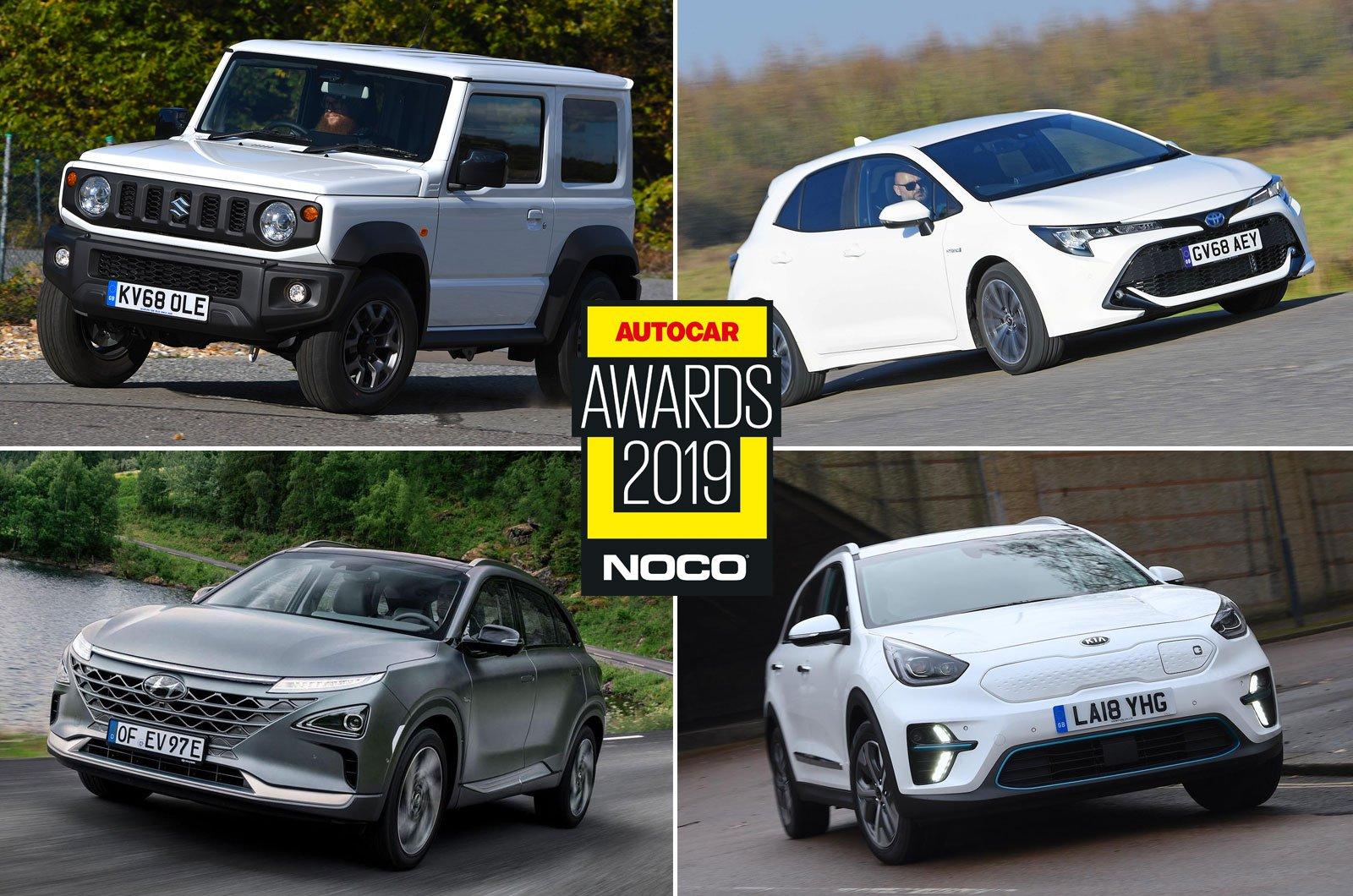 Suzuki Jimny, Toyota Corolla, Hyundai Nexo, Kia e-Niro