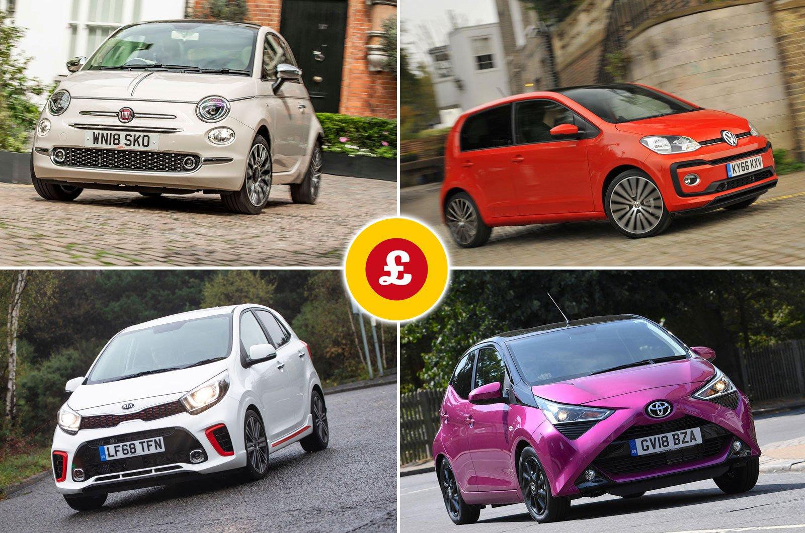 Fiat 500, Volkswagen Up, Toyota Aygo, Kia Picanto