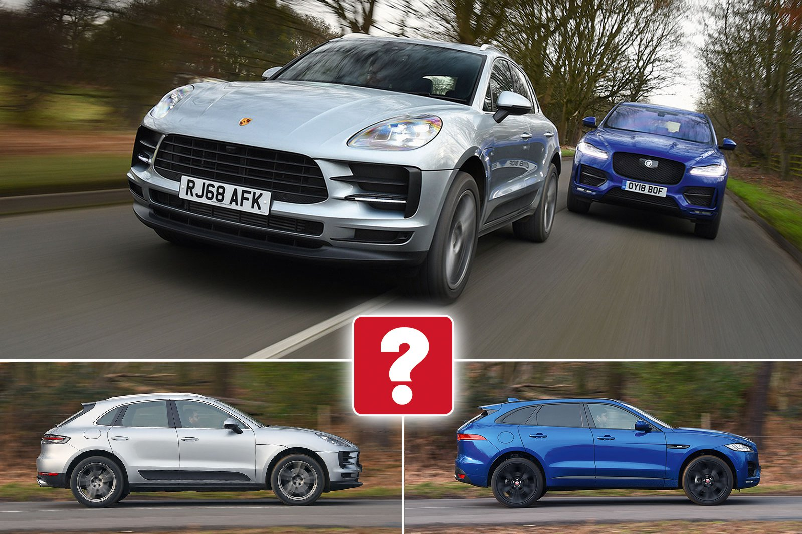 New Porsche Macan vs Jaguar F-Pace
