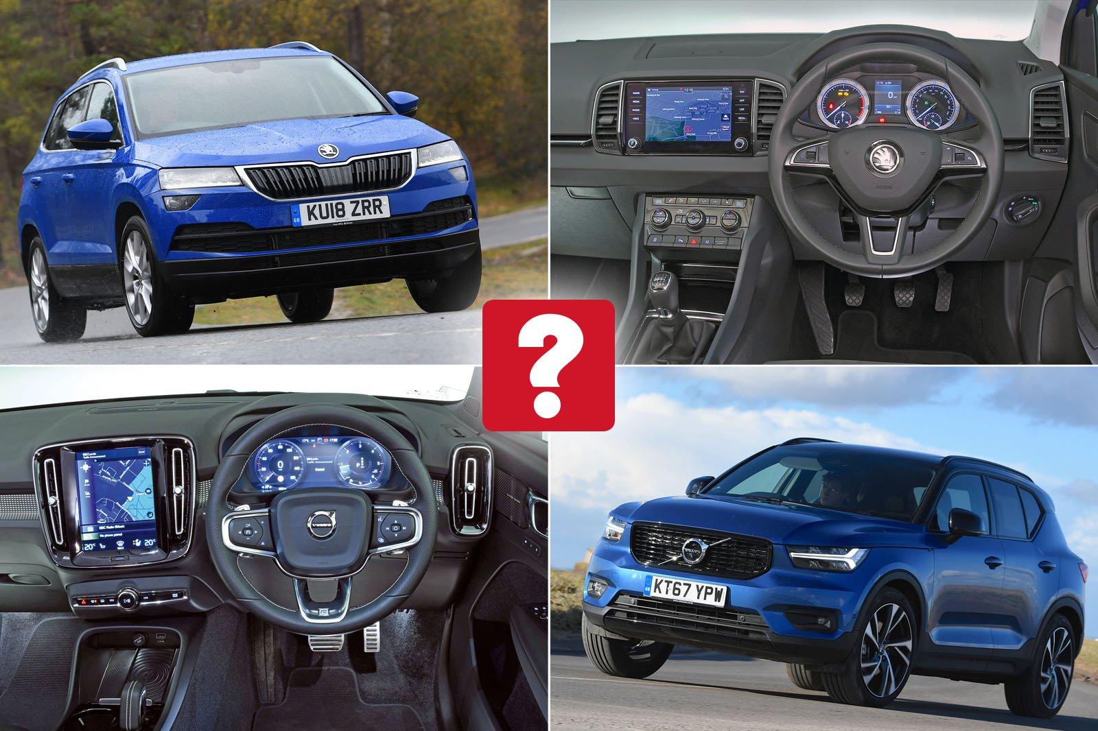 New Skoda Karoq vs used Volvo XC40: which is best?