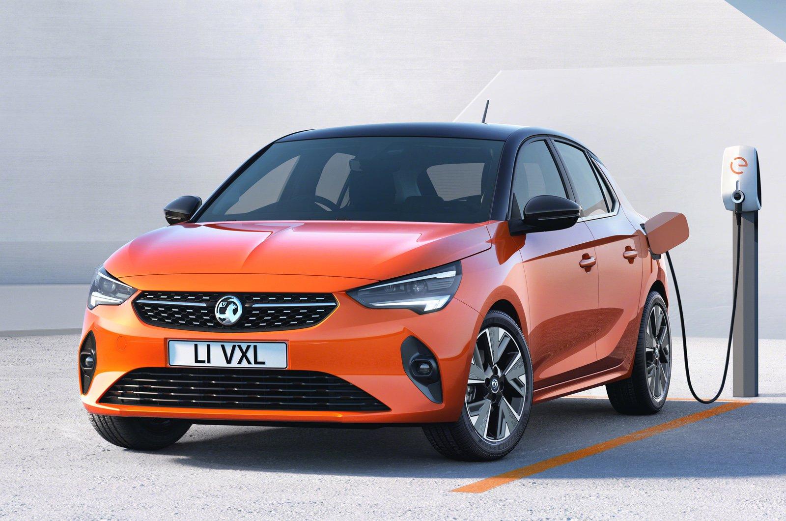Vauxhall eCorsa charging