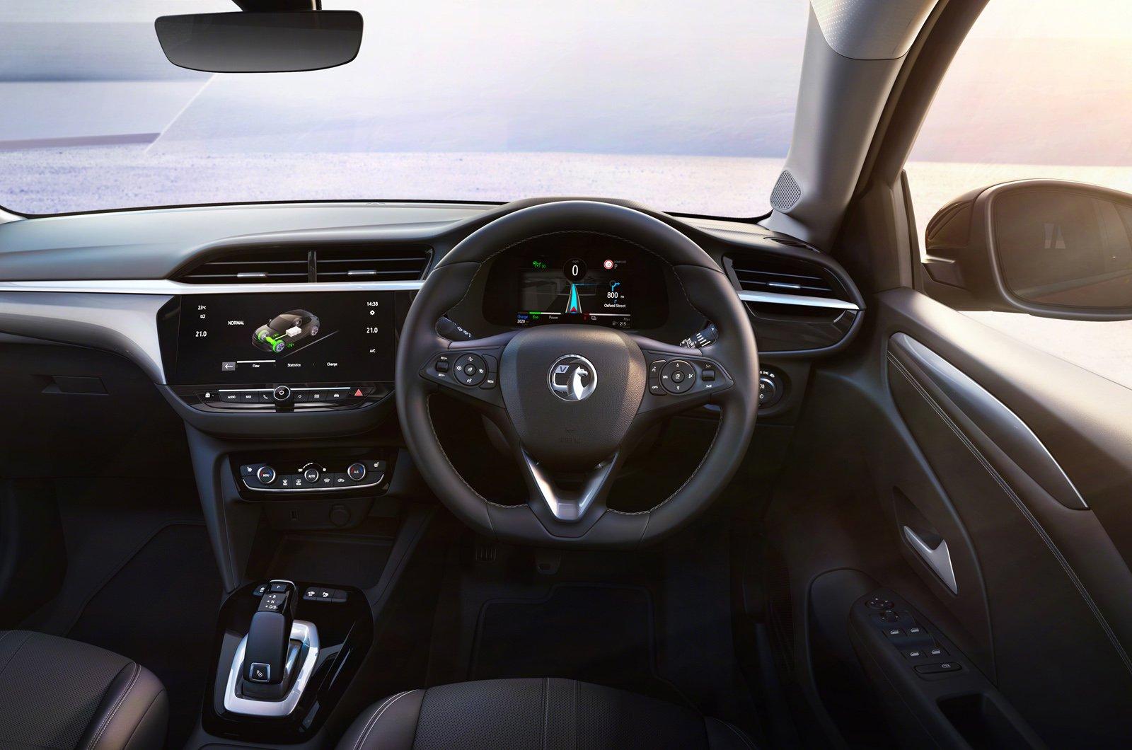 Vauxhall eCorsa dashboard