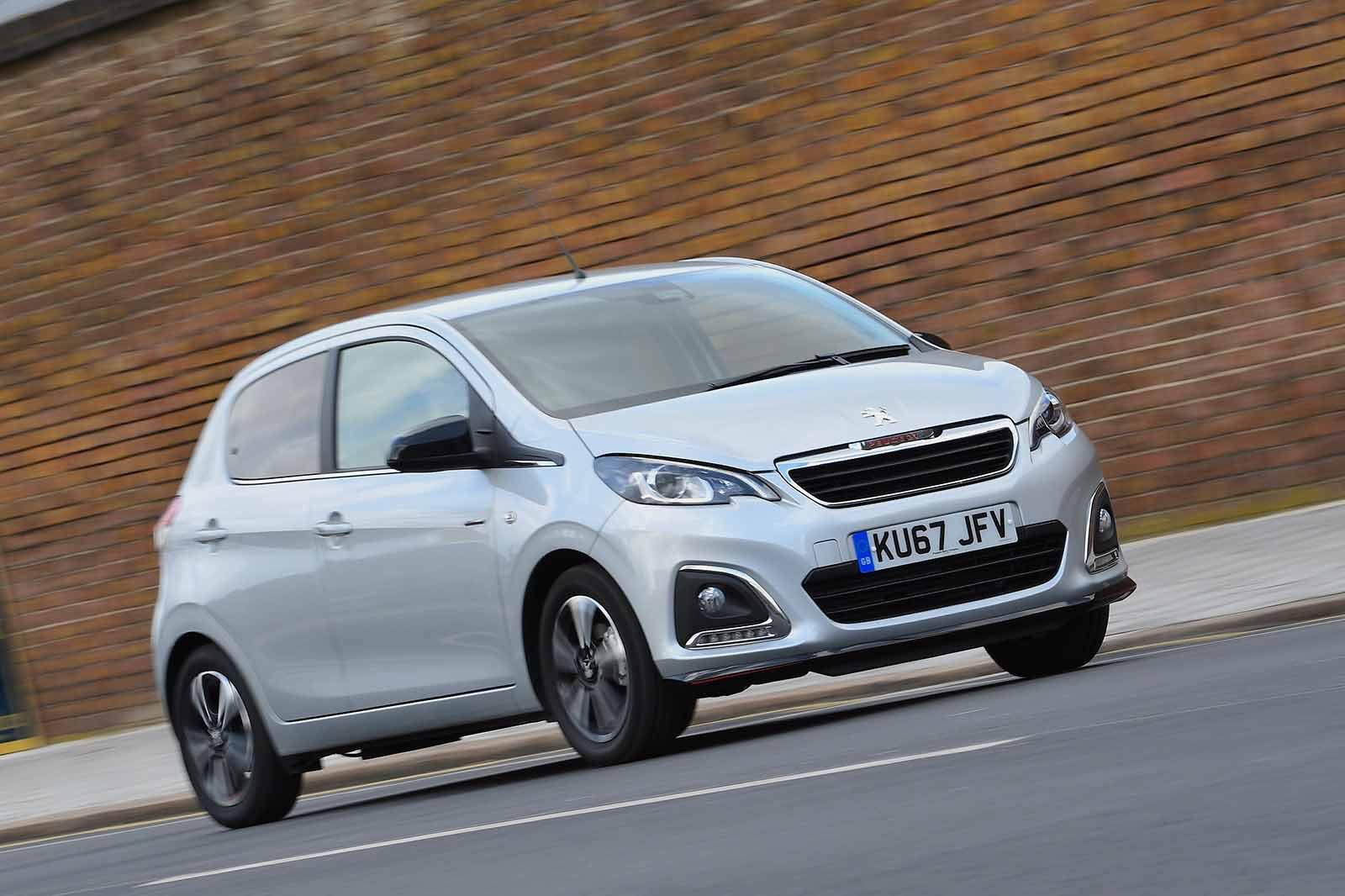 Peugeot 108 2018 RHD front tracking shot