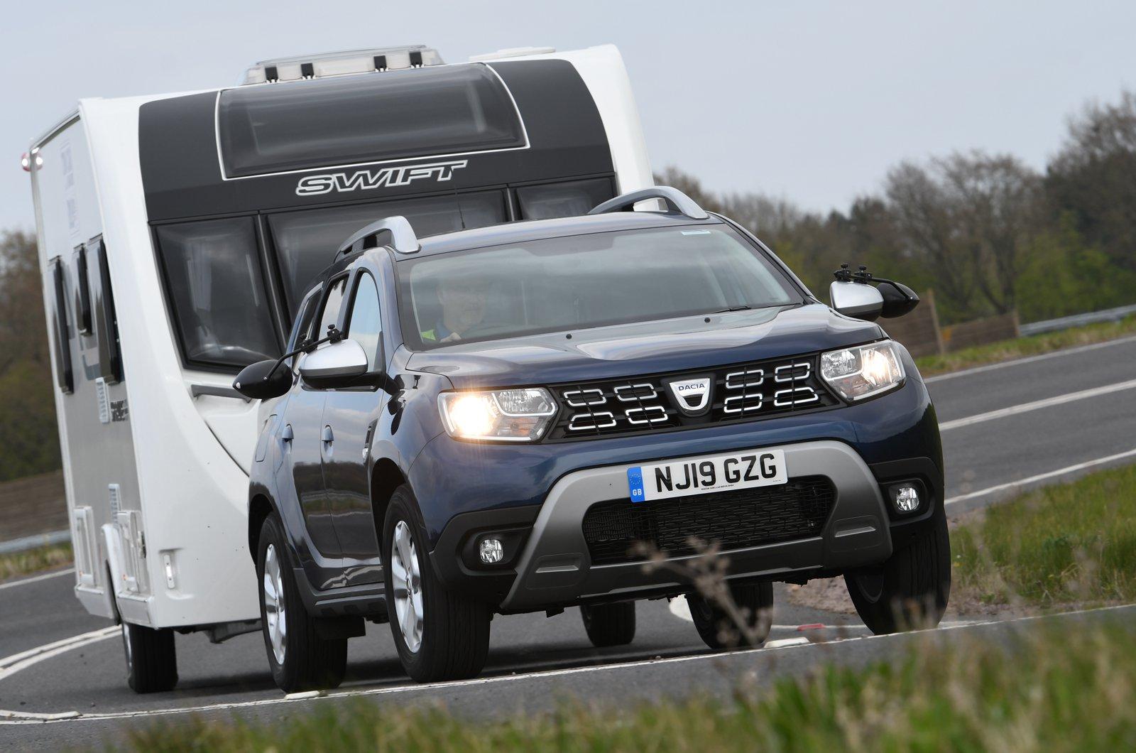 Dacia Duster towing caravan