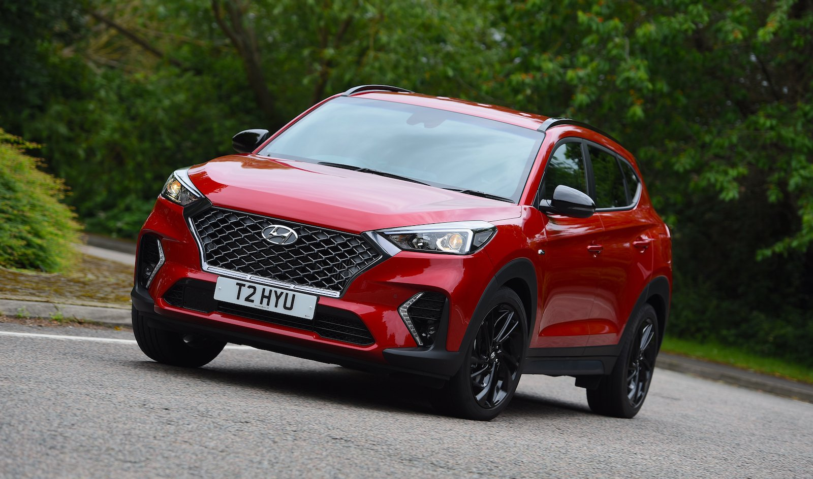 2019 Hyundai Tucson N Line Red front