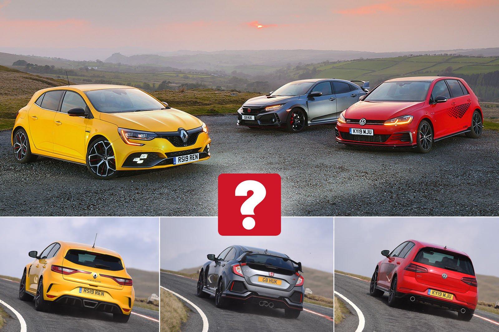 New Renault Megane RS & Volkswagen Golf GTI vs Honda Civic Type R