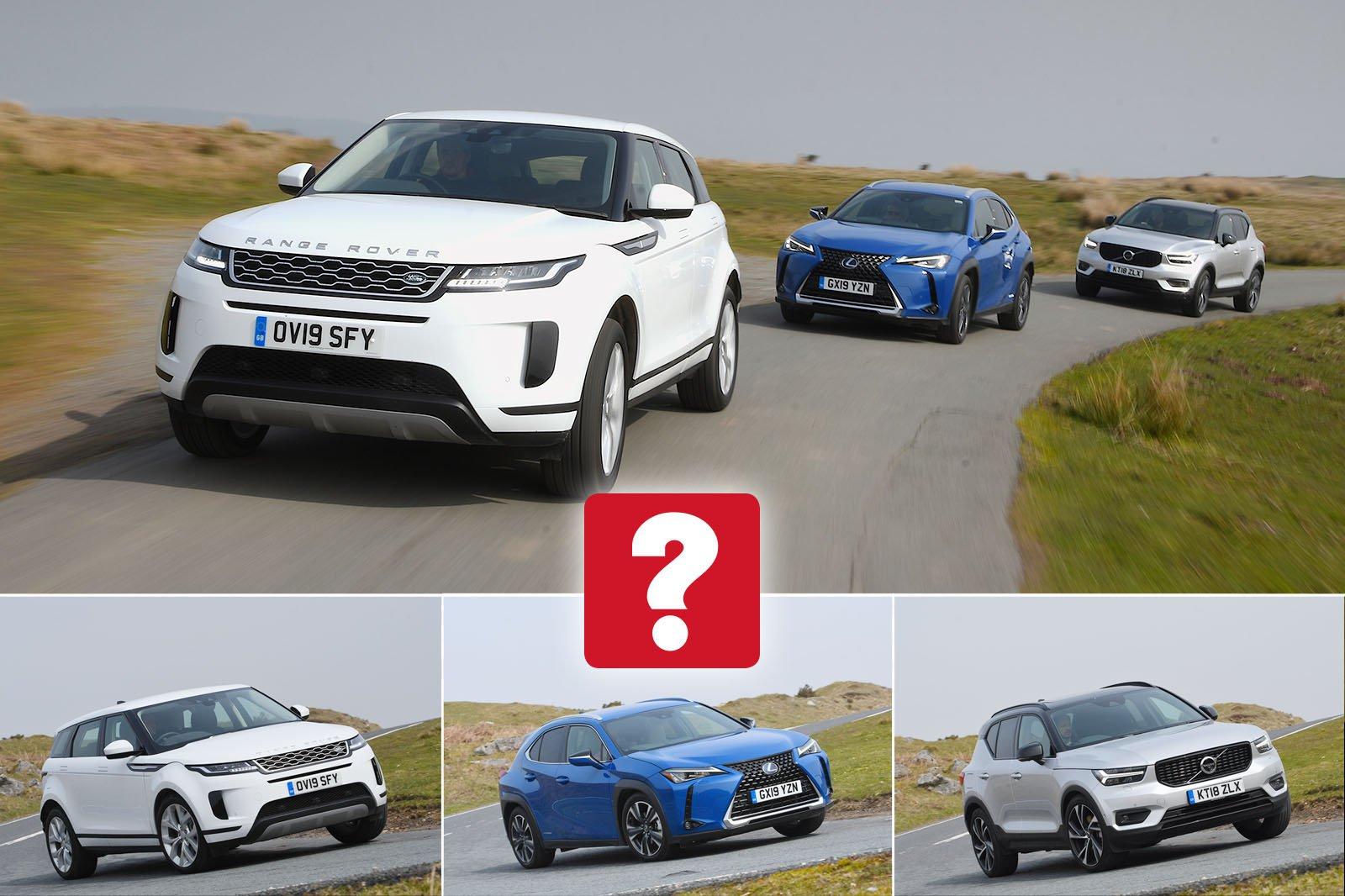 New Lexus UX & Range Rover Evoque vs Volvo XC40