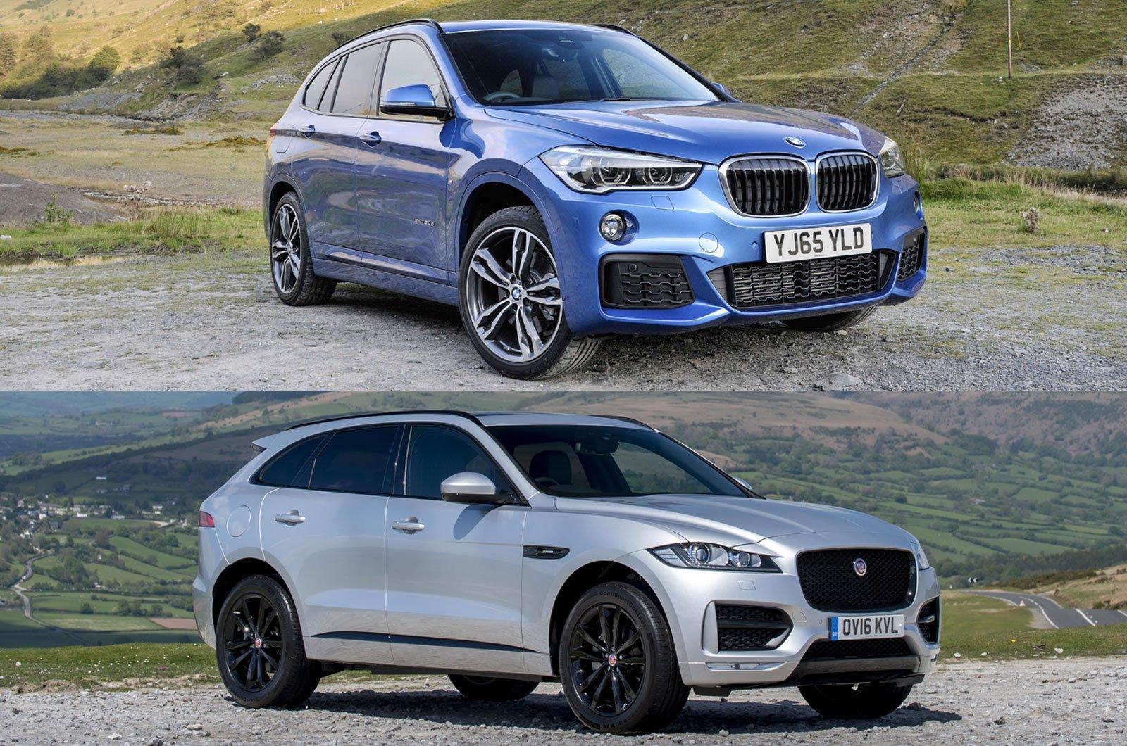 BMW X1 and Jaguar F-Pace