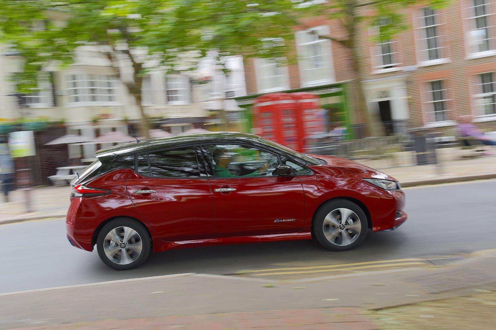 2019 Nissan Leaf 62kWh side profile
