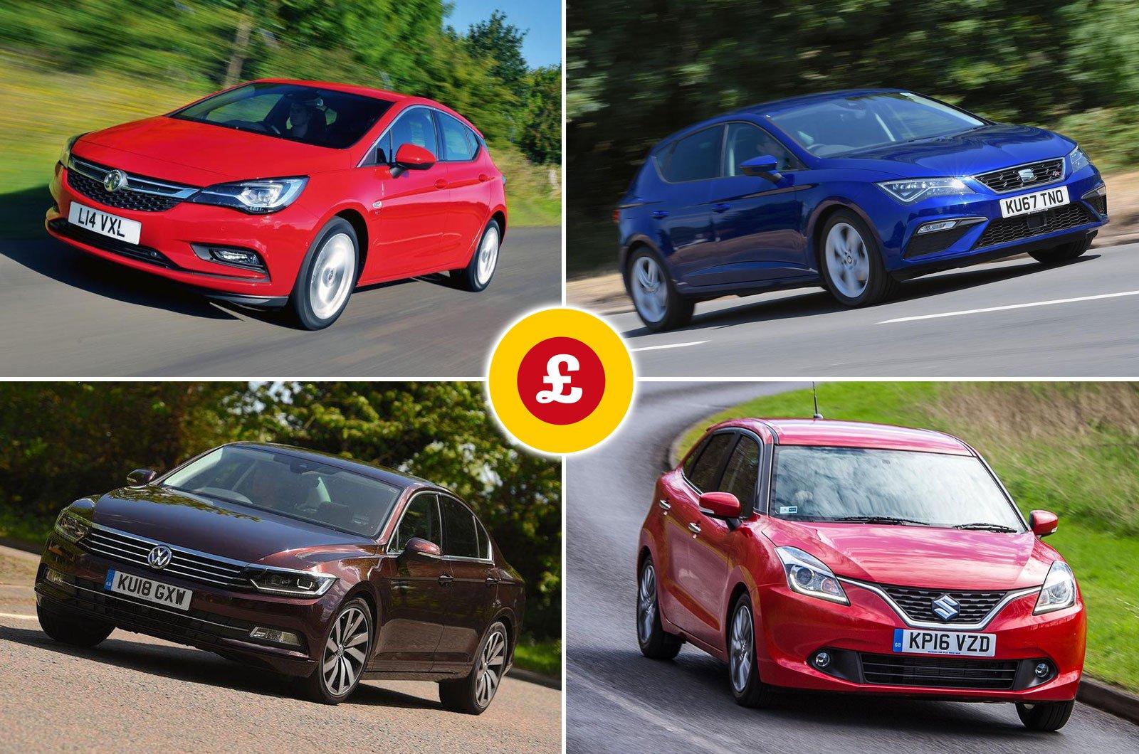 Vauxhall Astra, Seat Leon, Volkswagen Passat, Suzuki Baleno
