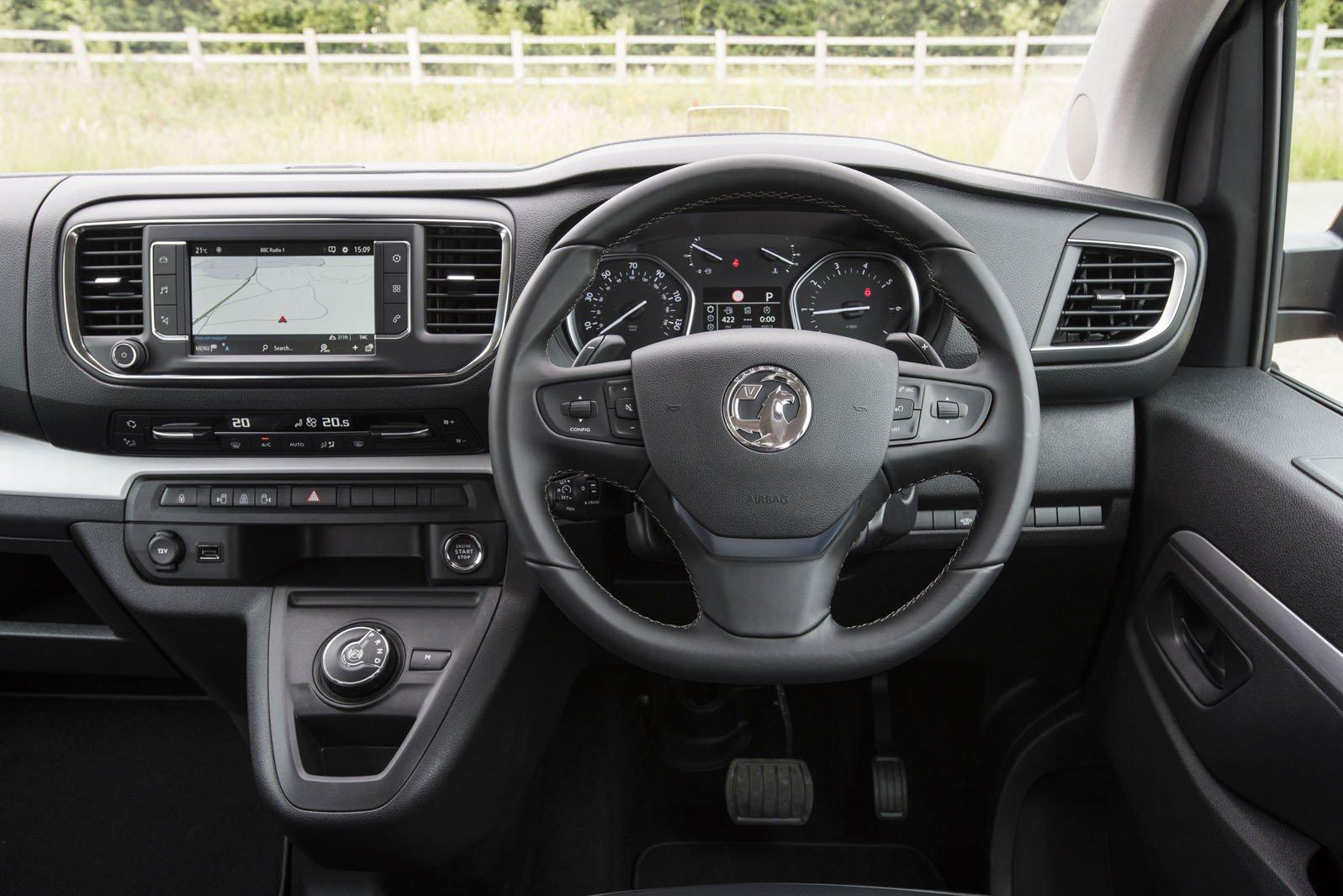 Vauxhall Vivaro Life 2019 RHD dashboard