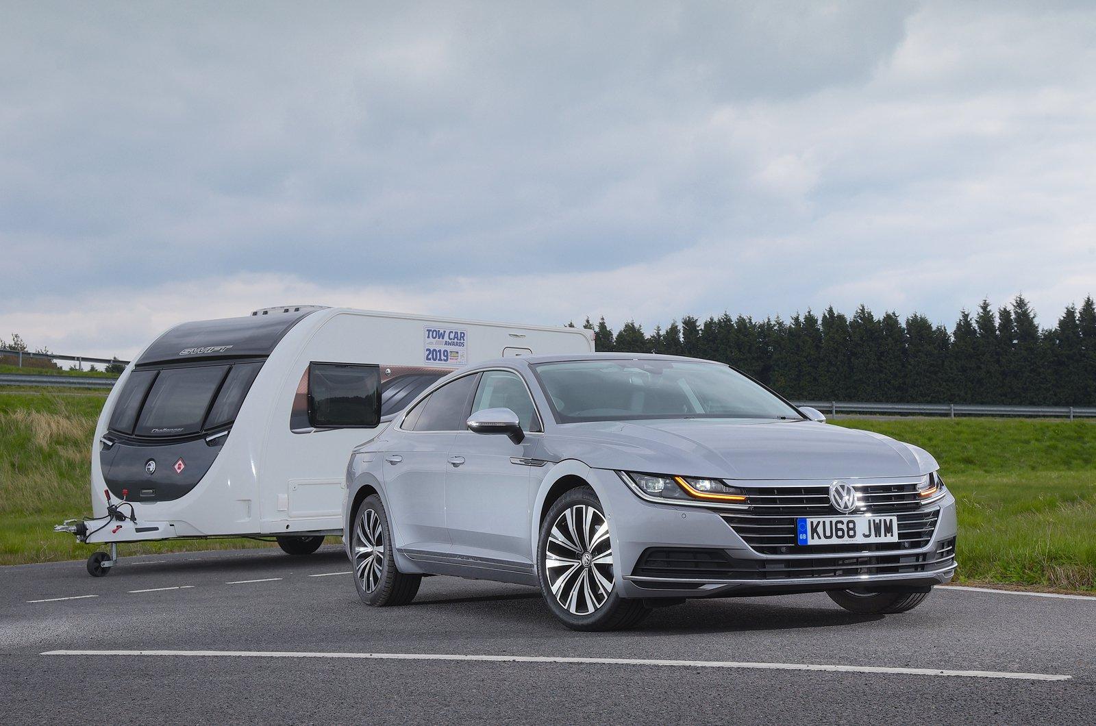 Volkswagen Arteon with caravan