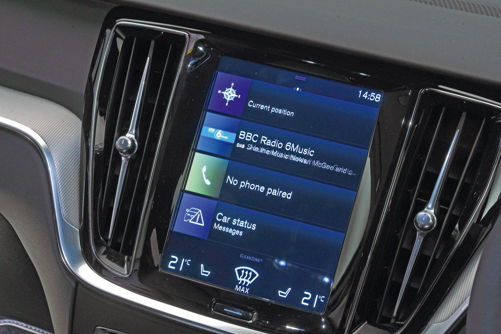 Volvo S60 infotainment