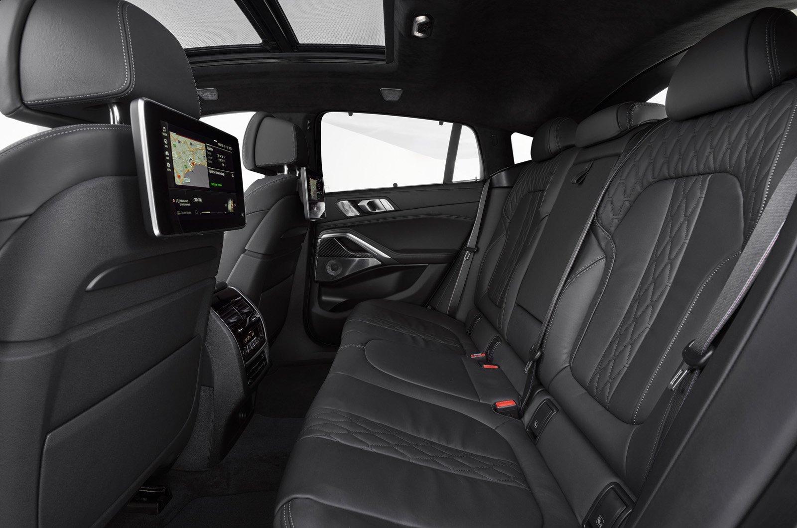 2020 BMW X6 rear seats
