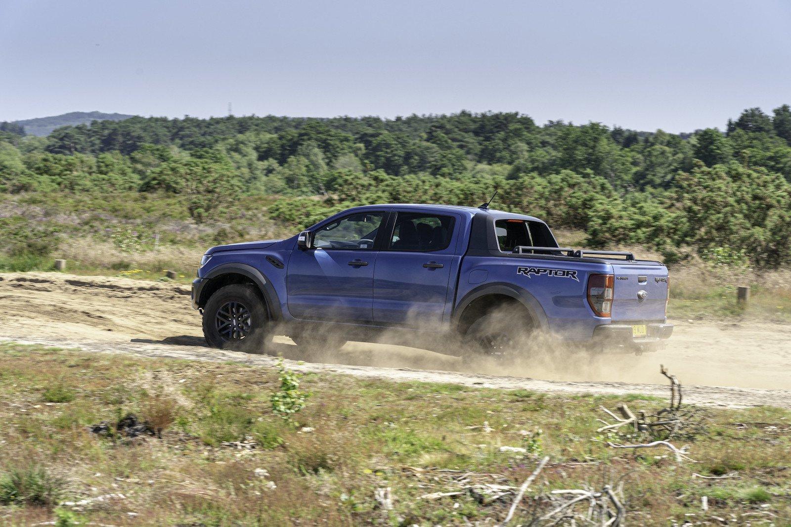2019 Ford Ranger Raptor off-road side