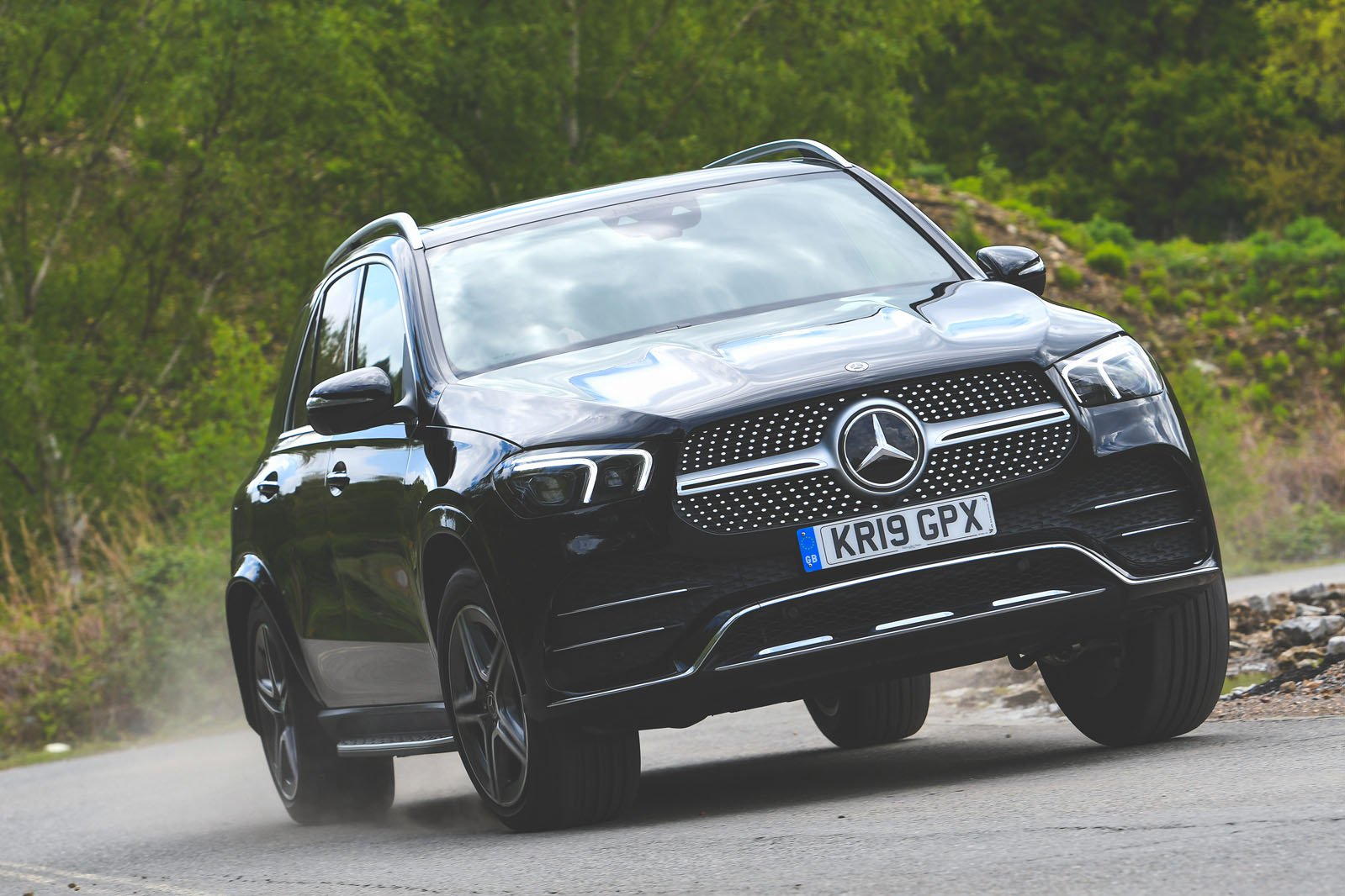 Mercedes GLE driving