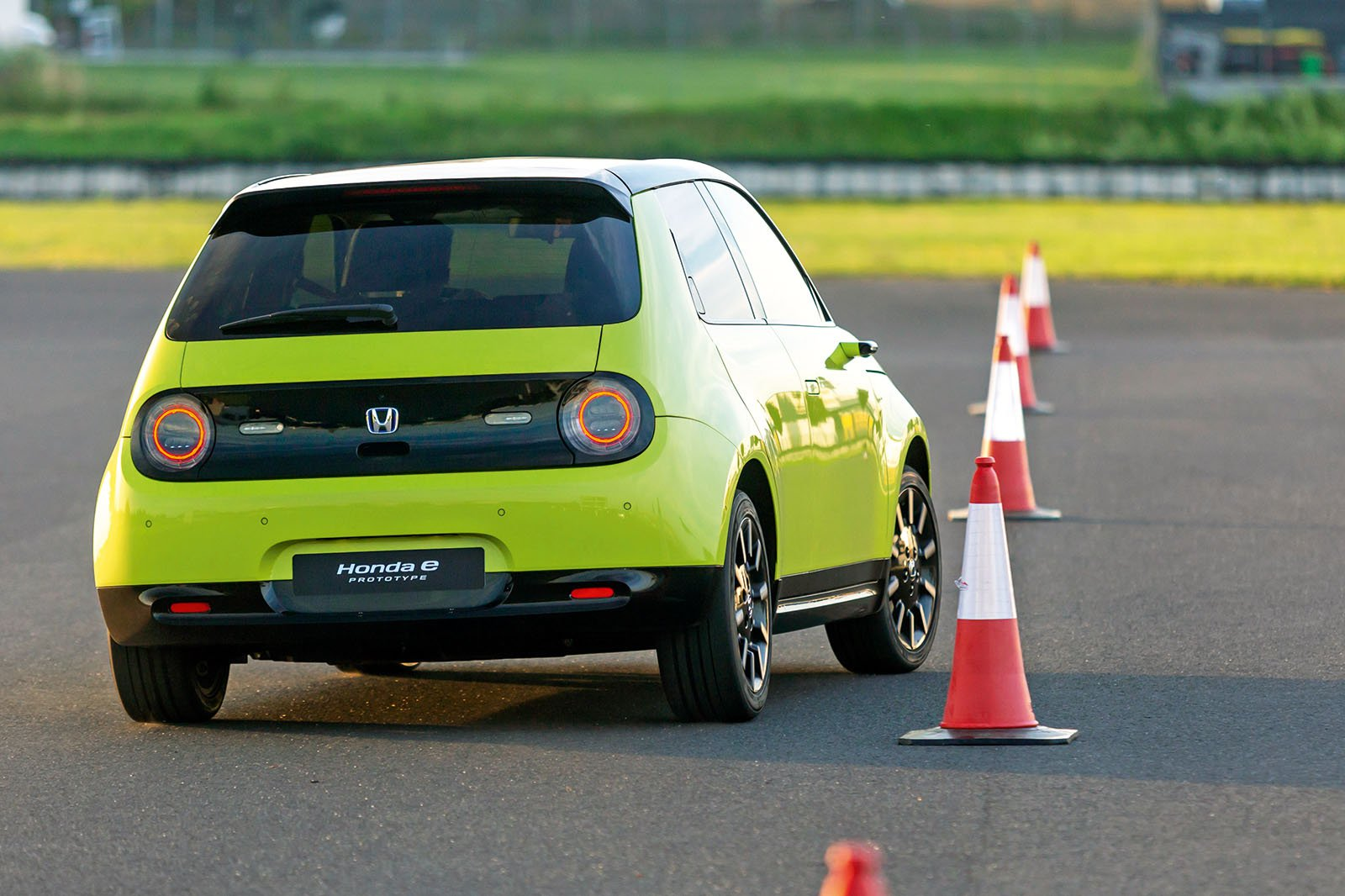 Honda E driving