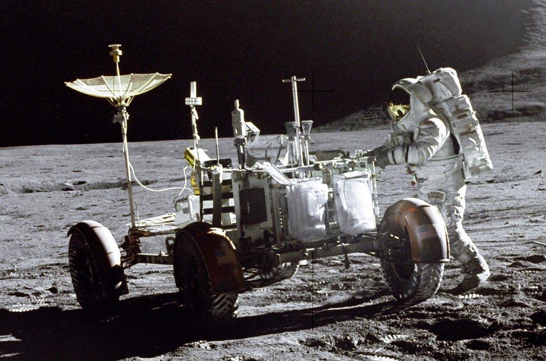 Luna Rover parked