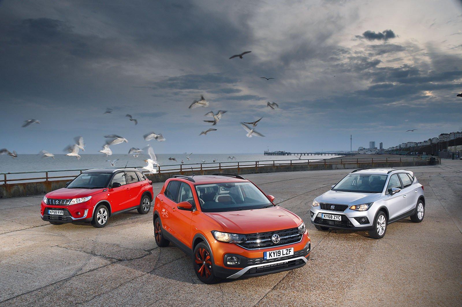 New Volkswagen T-Cross vs Seat Arona vs Suzuki Vitara
