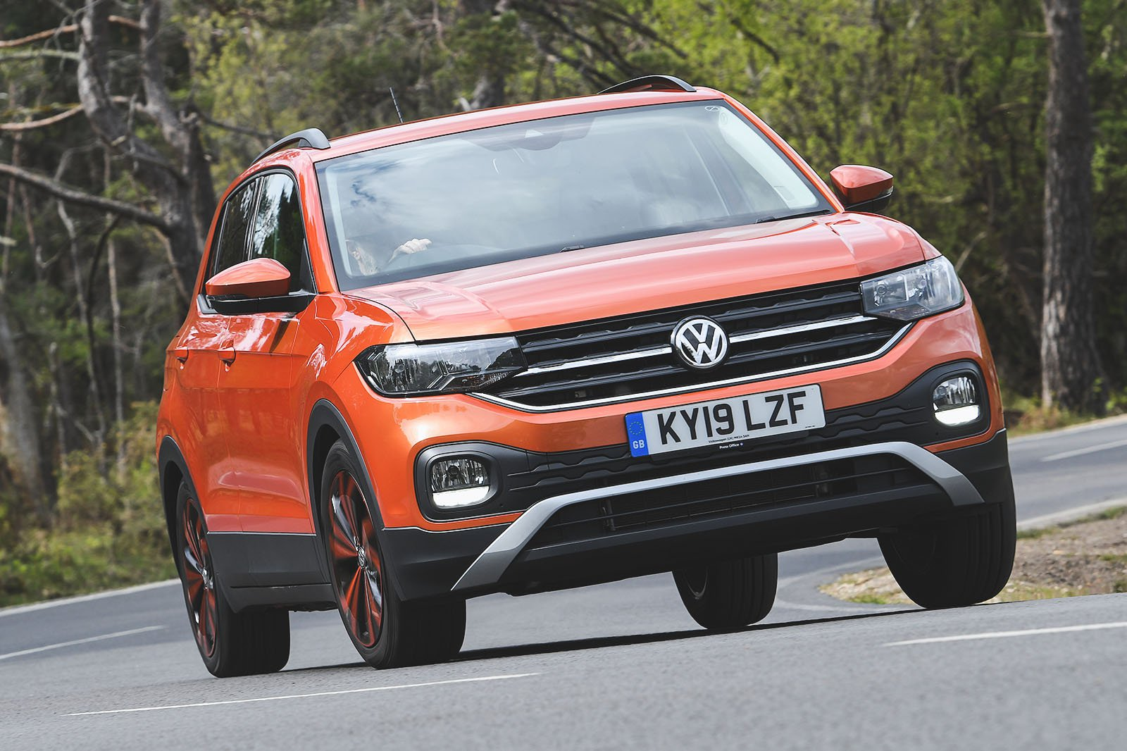 Volkswagen T-Cross driving