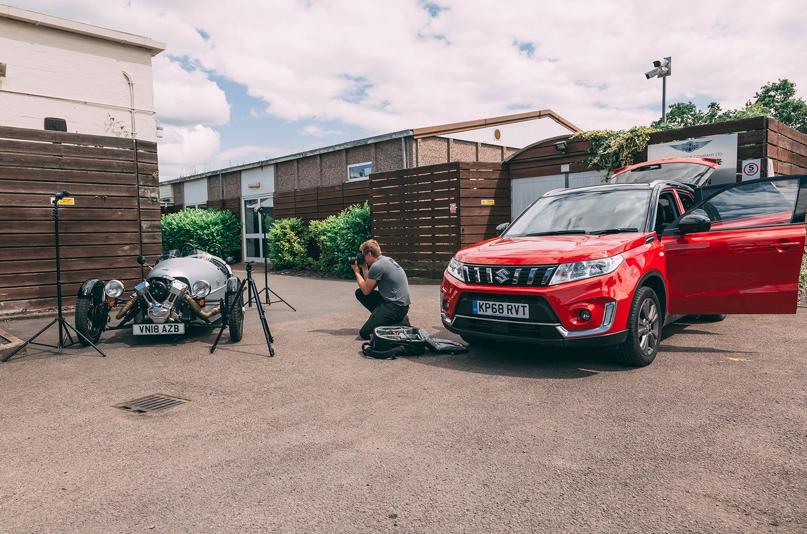 Suzuki Vitara on a photoshoot