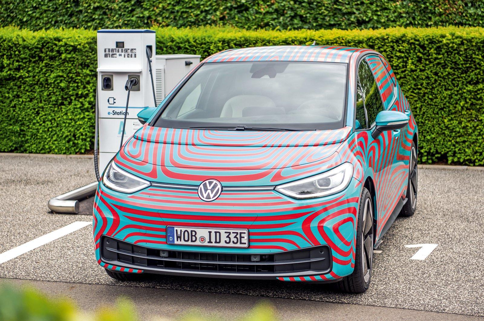 Volkswagen ID.3 prototype charging